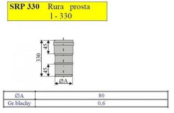 - 2473 Rura prosta L=330mm fi80