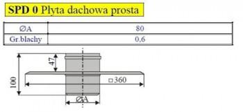 - 2478 Płyta dachowa prosta fi80
