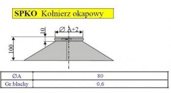 - 2480 Kołnierz okapowy fi80