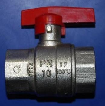 - 6599 Zawór kulowy niklowany DN25 MT