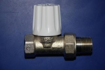 - 6634 Zawór grzejnikowy prosty niklowany P15