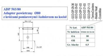 - 9702 Adapter powietrzny fi80