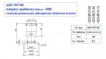 - 9705 Adapter spalinowy z odskraplaczem fi60/fi80