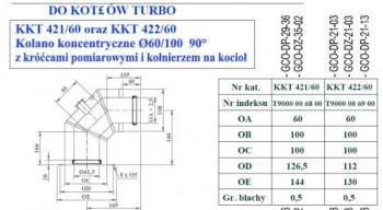 - 9703 Adapter w postaci kolana koncentr. fi60/100