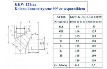 - 9740 Kolano 90st ze wspornikiem fi80/125