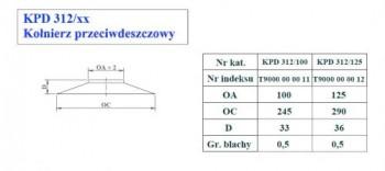 - 9707 Kołnierz przeciwdeszczowy fi100