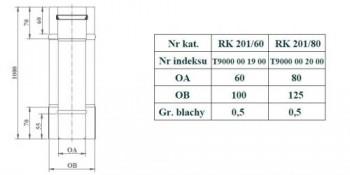 - 9688 Rura koncentryczna L=1000mm fi80/125