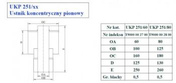 - 9726 Ustnik koncentryczny pionowy fi 80/125