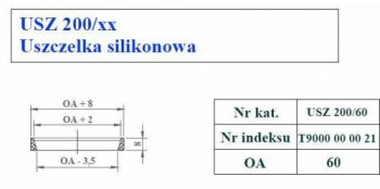 - 9709 Uszczelka silikonowa fi60