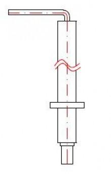 - 1597 Elektroda kontroli płomienia