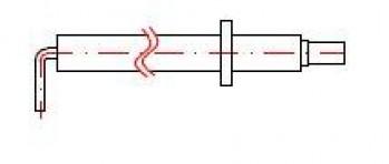 - 1540 Elektroda kontroli płomienia